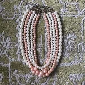 ModCloth 2 Tone Faux Pearl Necklace